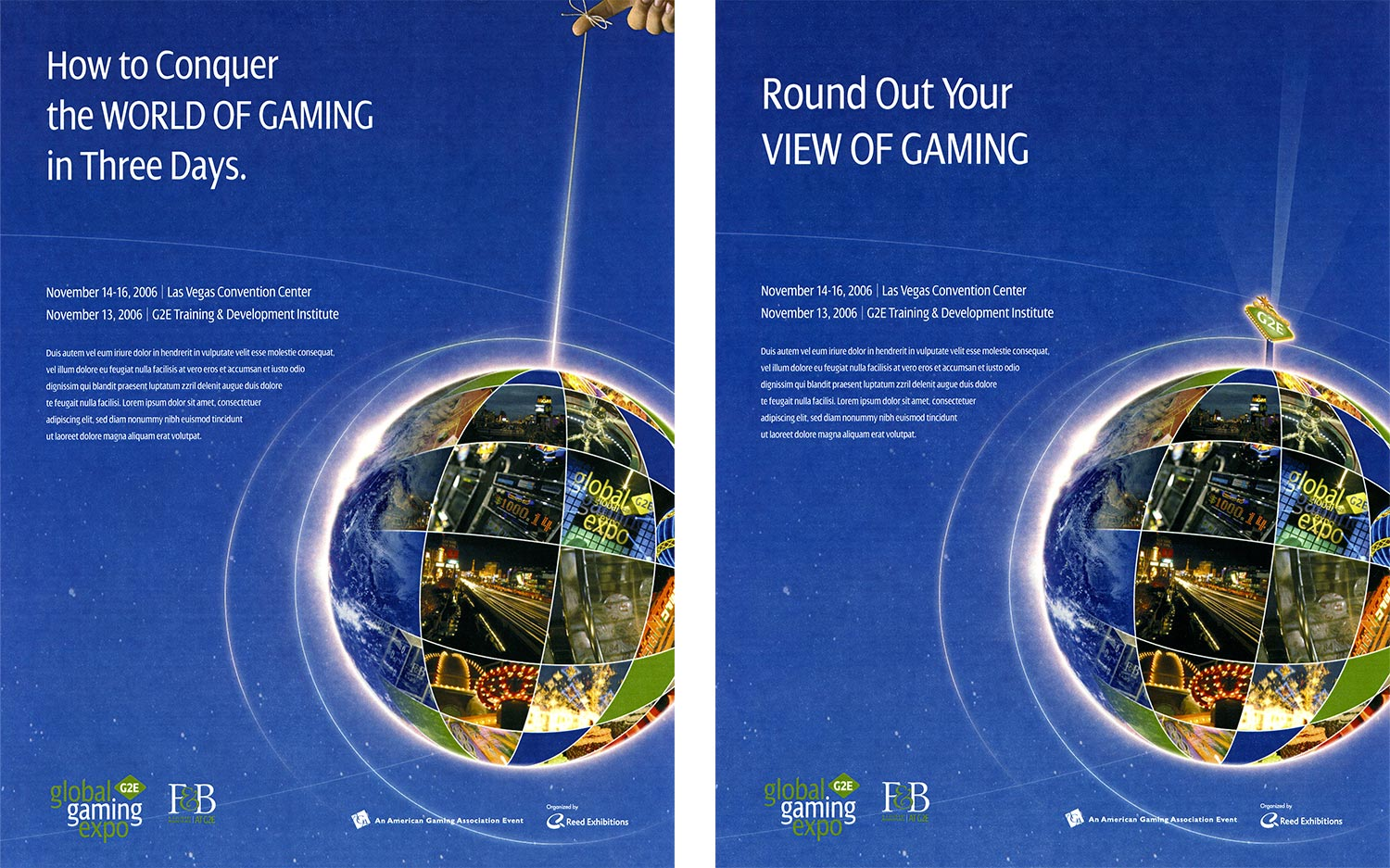 Global Gaming Expo G2E Ads